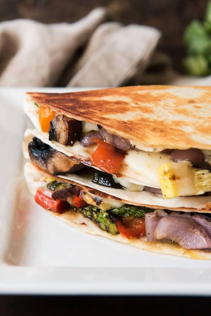 #15 Grilled Summer Vegetable Quesadillas