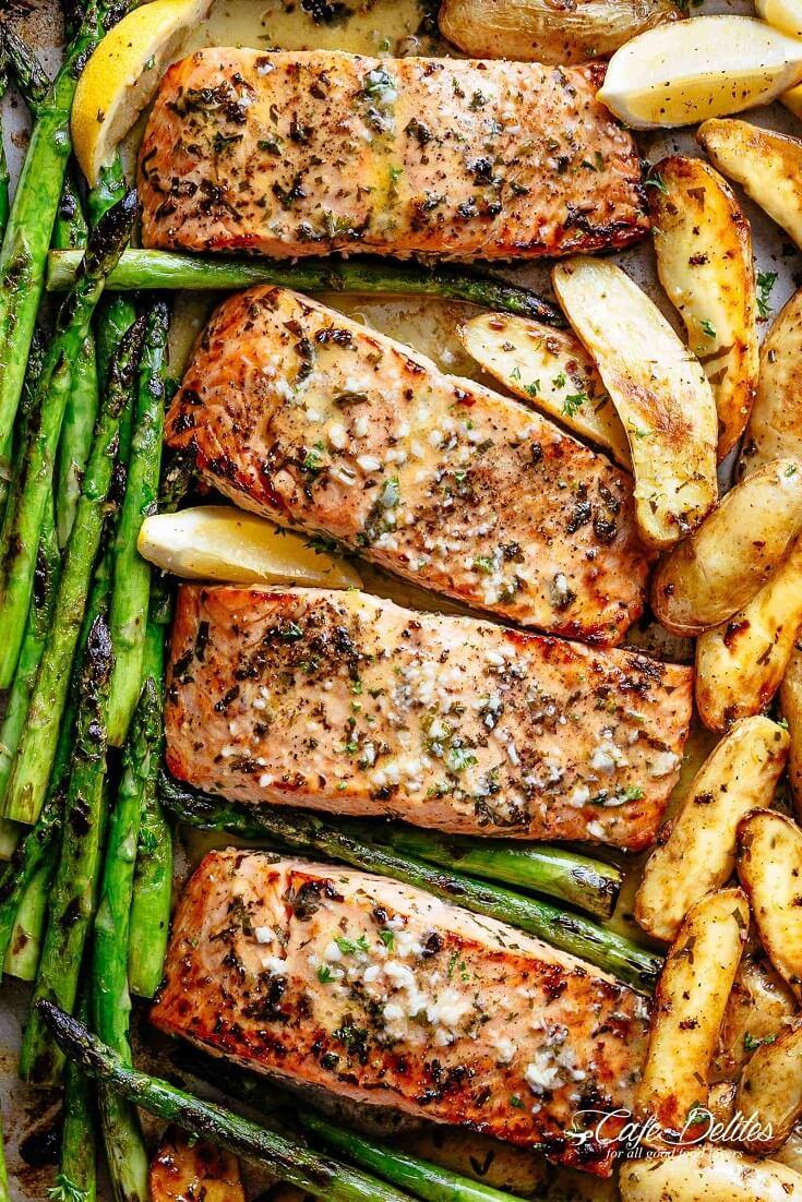 #15 Sheet Pan Garlic Butter Baked Salmon