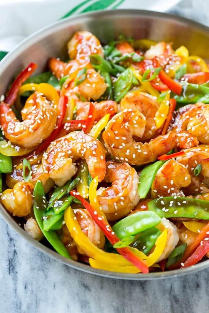 #15 Teriyaki Shrimp Stir Fry