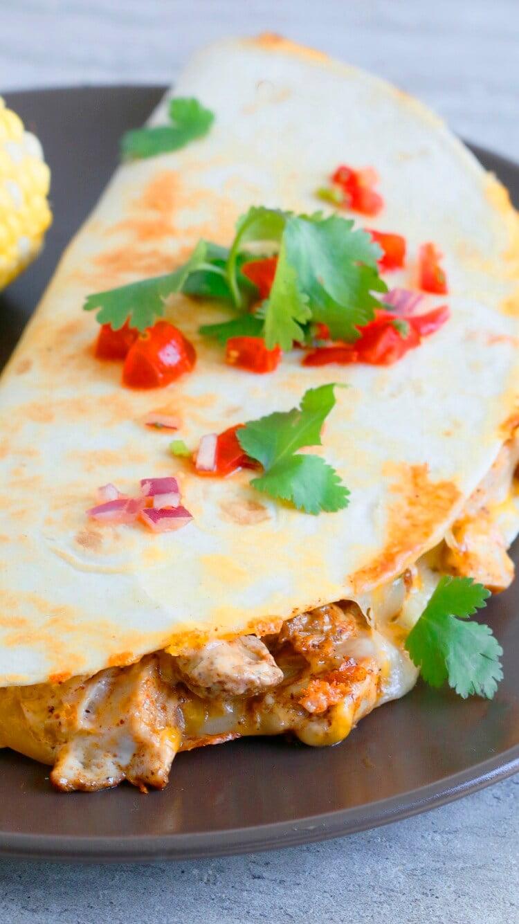 15. Spicy Chicken Ranch Quesadillas