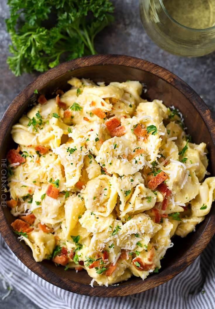 #16 20-Minute Tortellini Pasta Carbonara