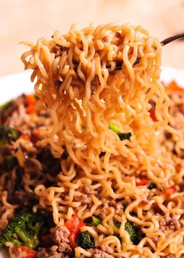 #16 Beef Ramen Noodles Stir Fry