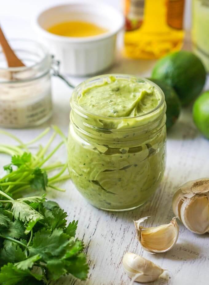 #16 Creamy Avocado Lime Dressing