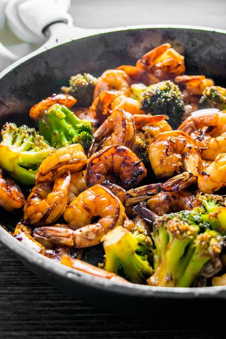 #16 Honey Garlic Shrimp and Broccoli