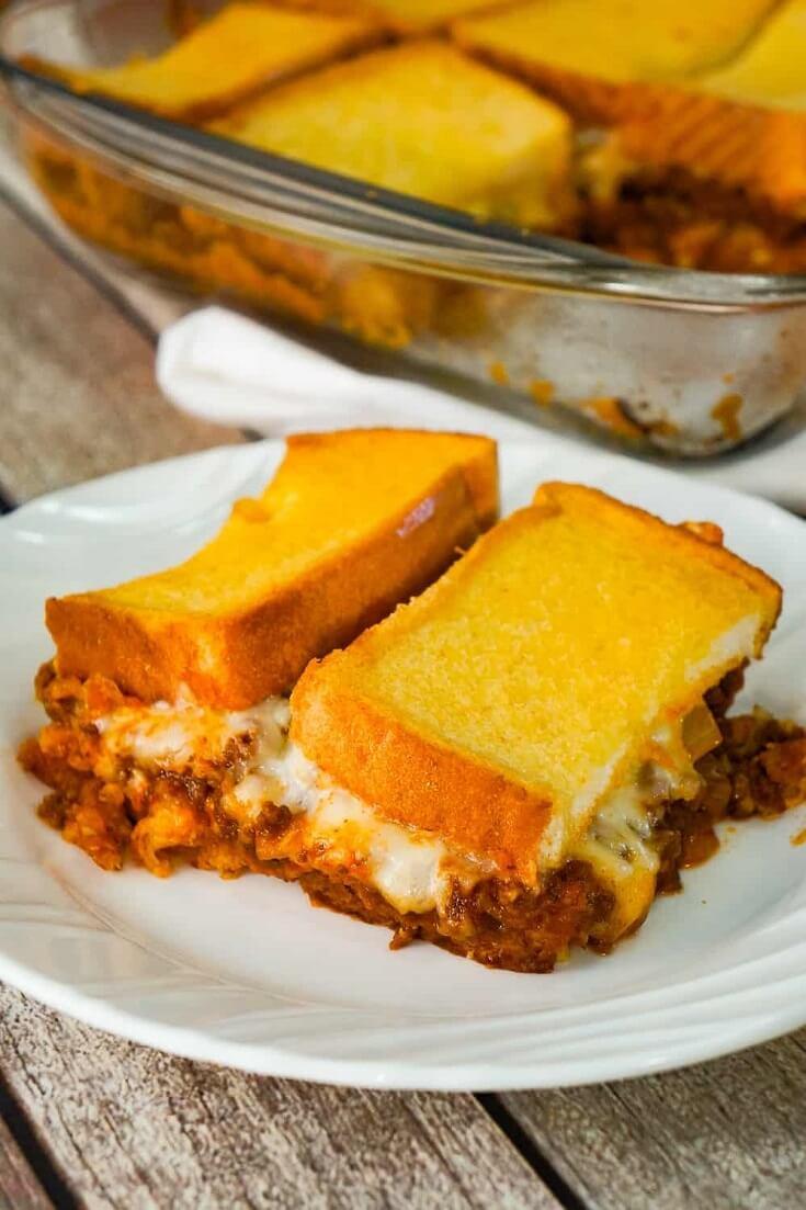 #16 Sloppy Joe Grilled Cheese Casserole