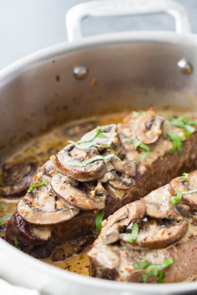 #16 Steak with Garlic Mushroom Cream Sauce