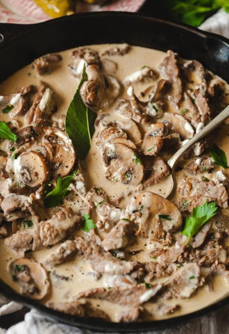 16. Beef and Mushroom Stroganoff