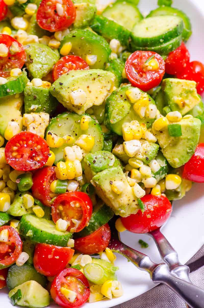 16.Corn Avocado Salad