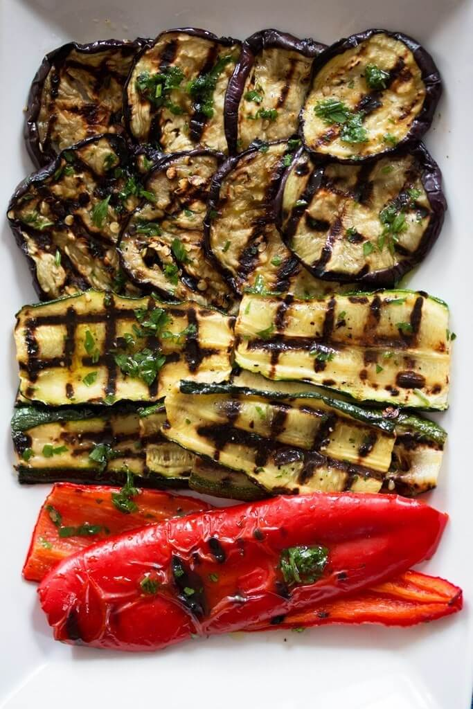 #17 Lemon Herb Marinated Grilled Vegetables