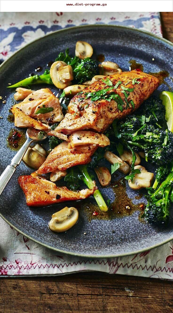 17. Sicilian-Style Salmon with Garlic Mushrooms