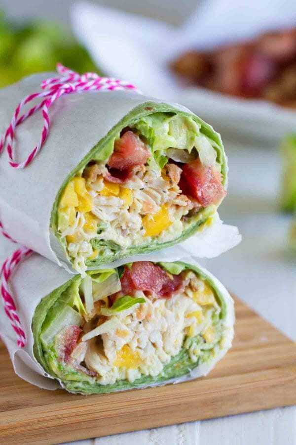 #18 Avocado Ranch Chicken Salad Wraps
