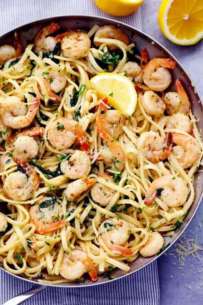 #18 Lemon Garlic Parmesan Shrimp Pasta