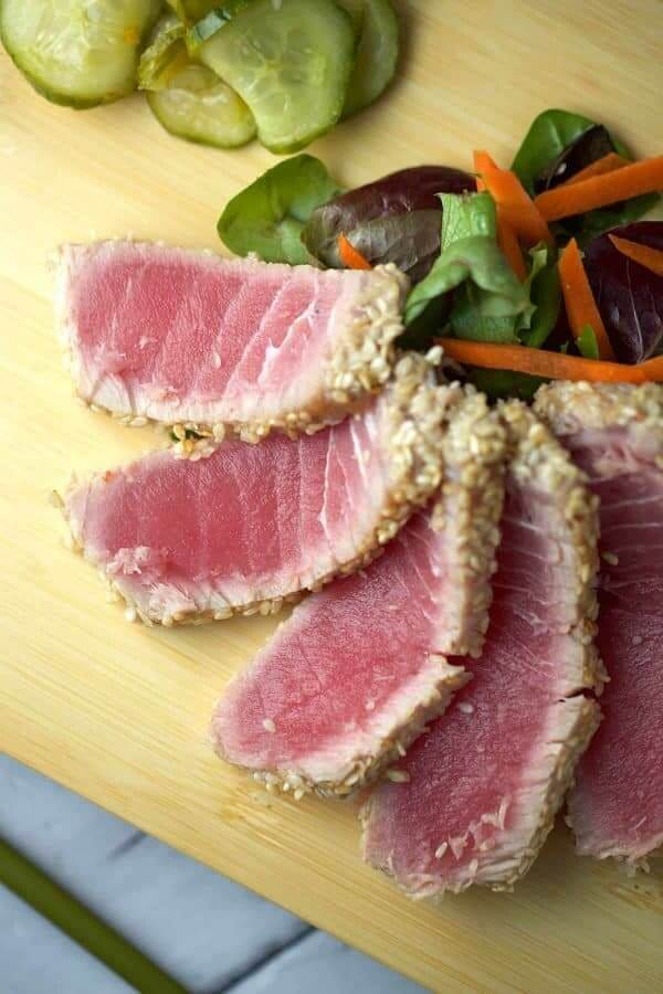 #18 Sesame Crusted Ahi Tuna with Soy Ginger Lime Sauce