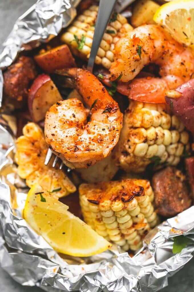 #18 Shrimp Boil Foil Packs