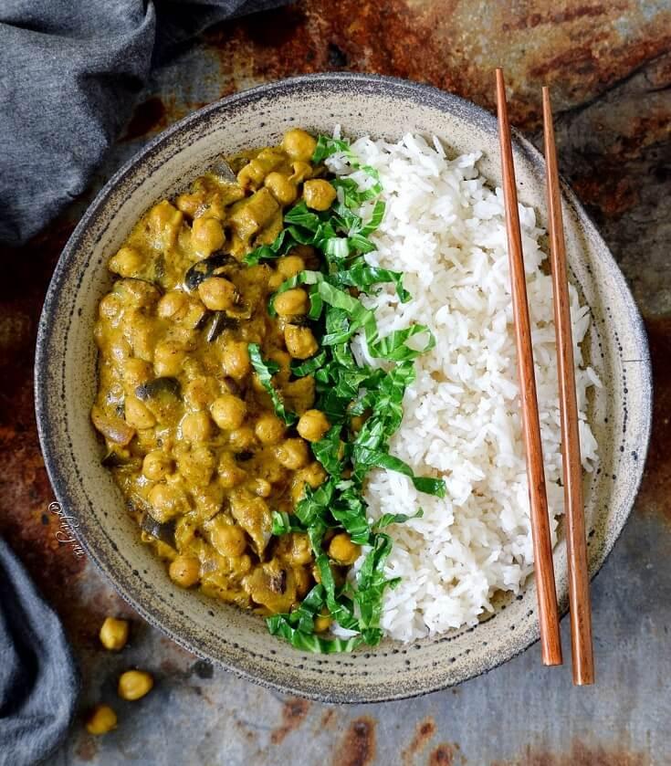 #18 Vegan Chickpea Eggplant Curry