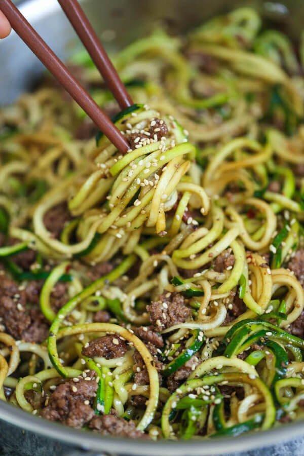 18. Korean Beef Zucchini Noodles