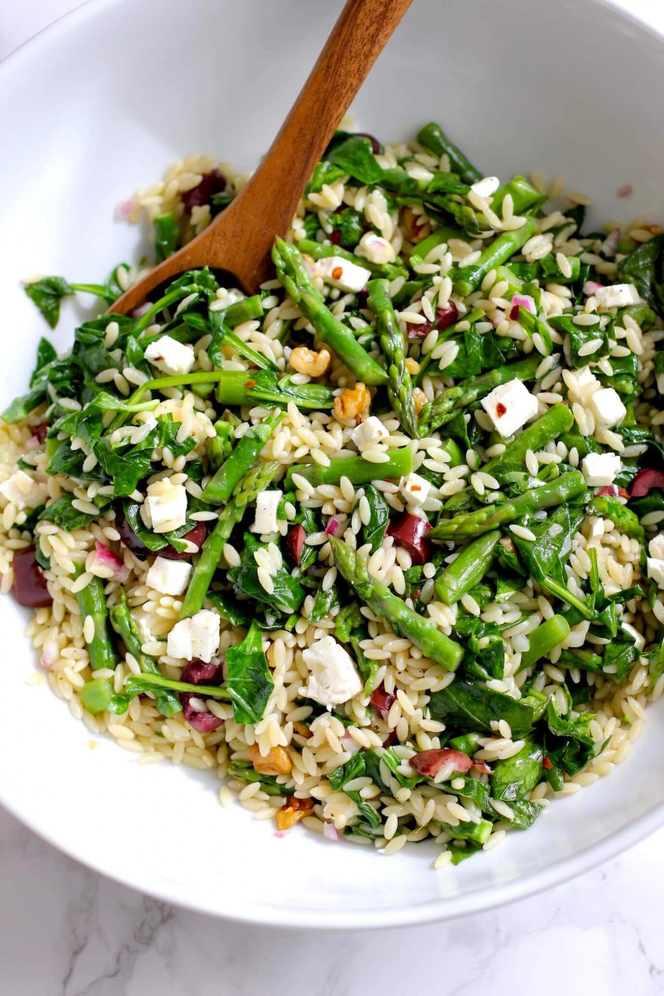 18. Orzo Salad with Asparagus and Spinach-min