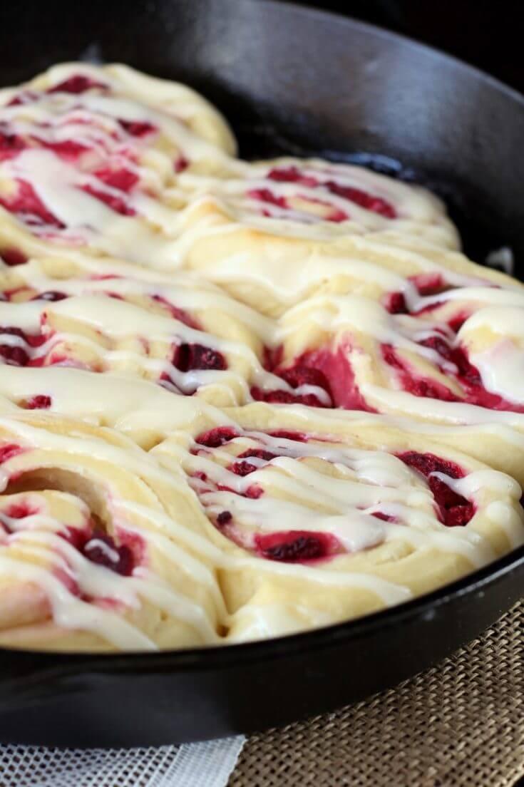 18. Raspberry Cream Cheese Sweet Rolls