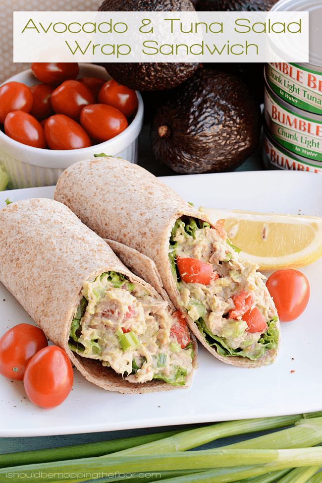 #19 Avocado and Tuna Salad Wrap