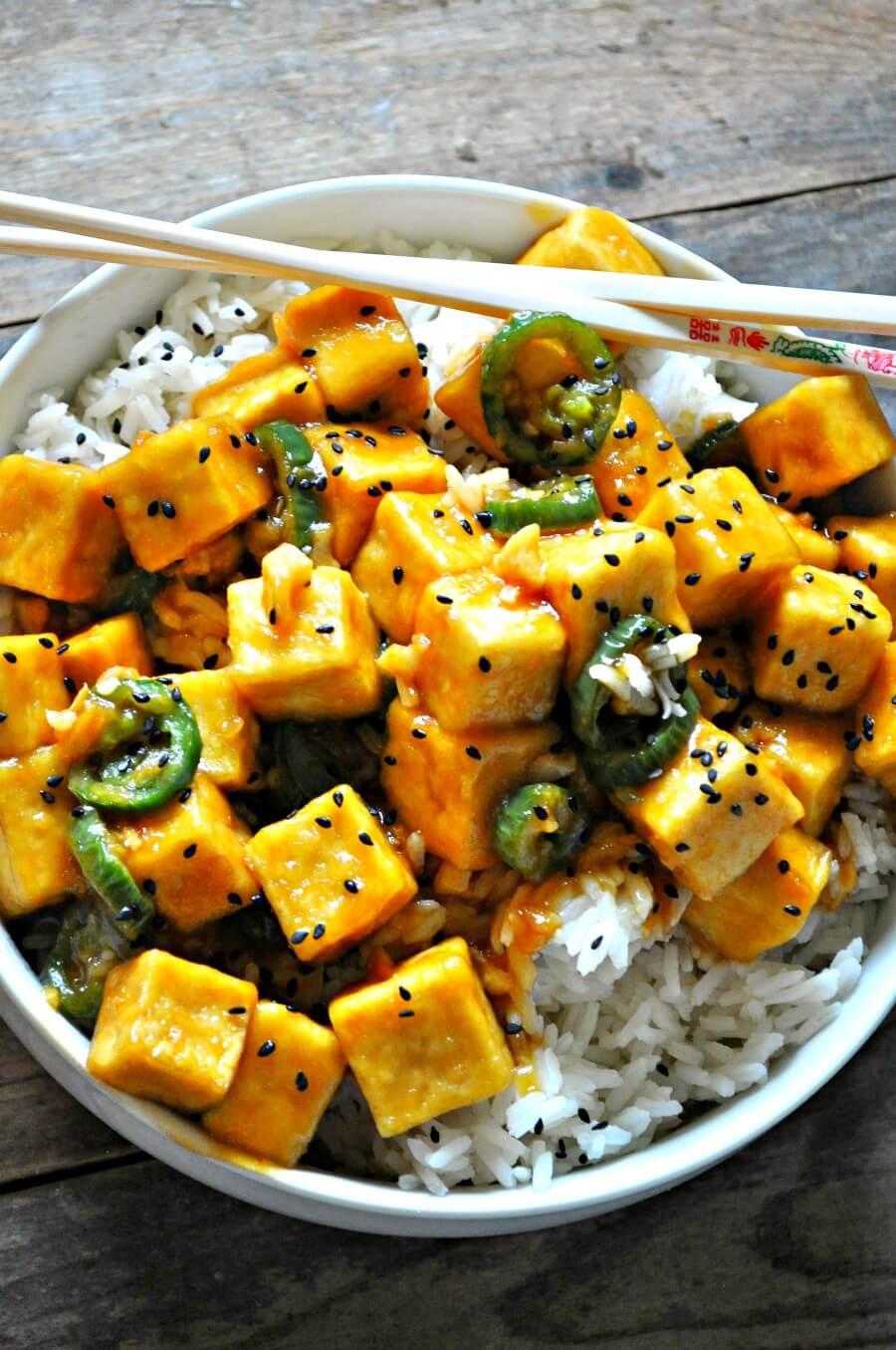 #19 Crispy Hawaiian Garlic Tofu