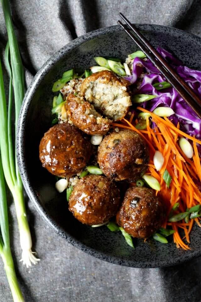 #19 Japanese Eggplant No-Meatballs