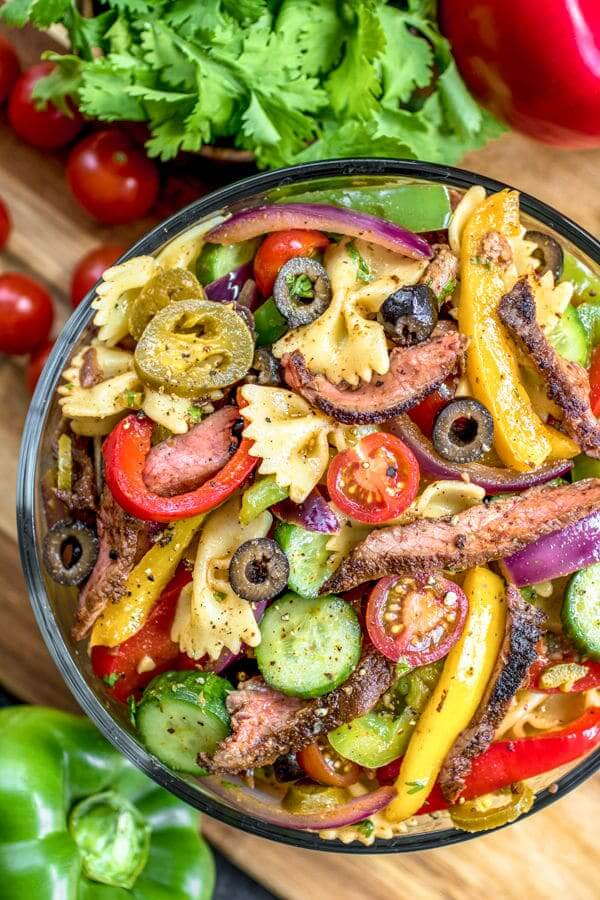 #19 Steak Fajita Pasta Salad