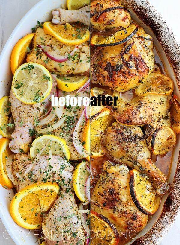2 Herbs and Citrus Oven Roasted Chicken