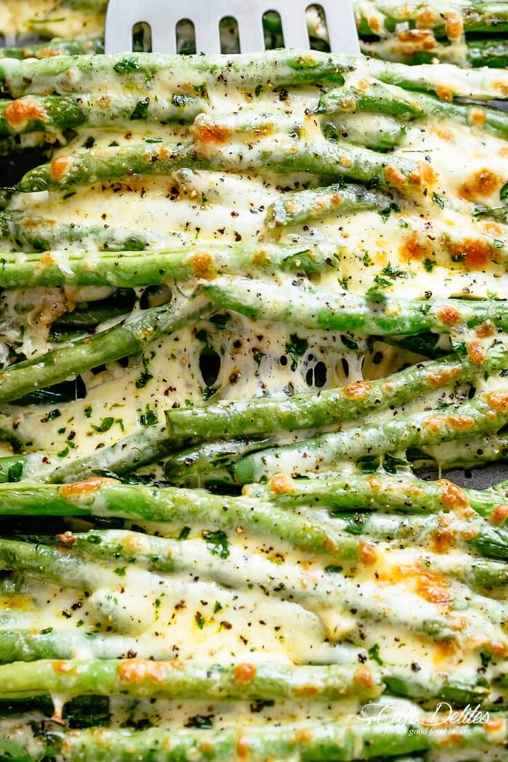 #2 Roasted Green Beans with Parmesan