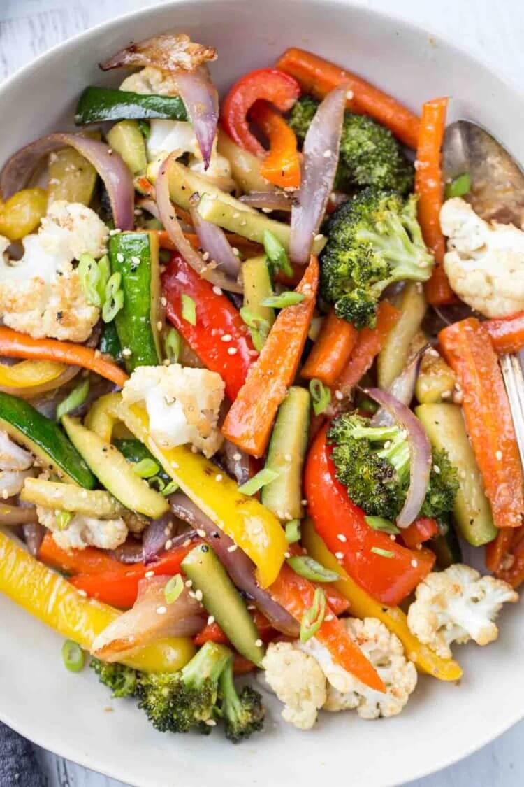 #2 Roasted Zucchini Peppers, Cauliflower and Broccoli
