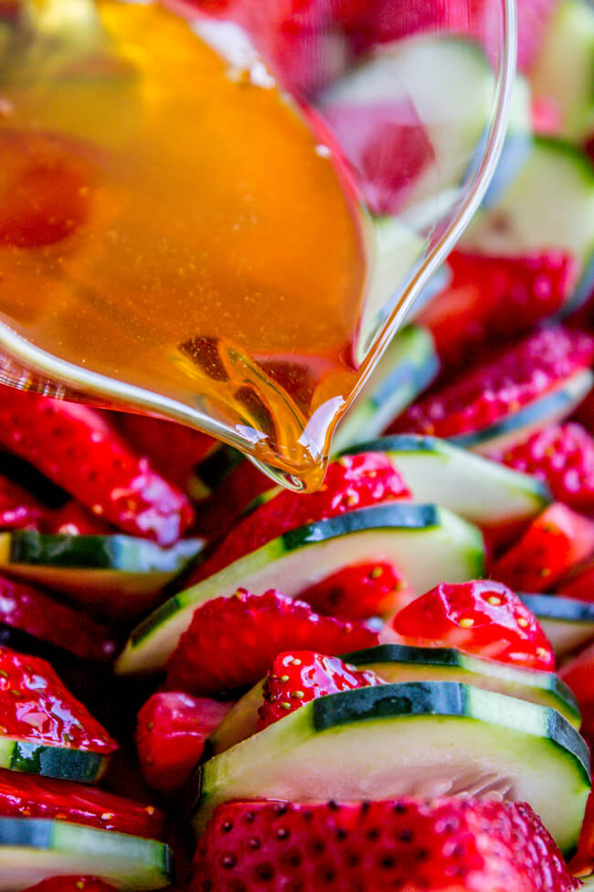 #2 Strawberry Cucumber Salad with Honey Balsamic Dressing