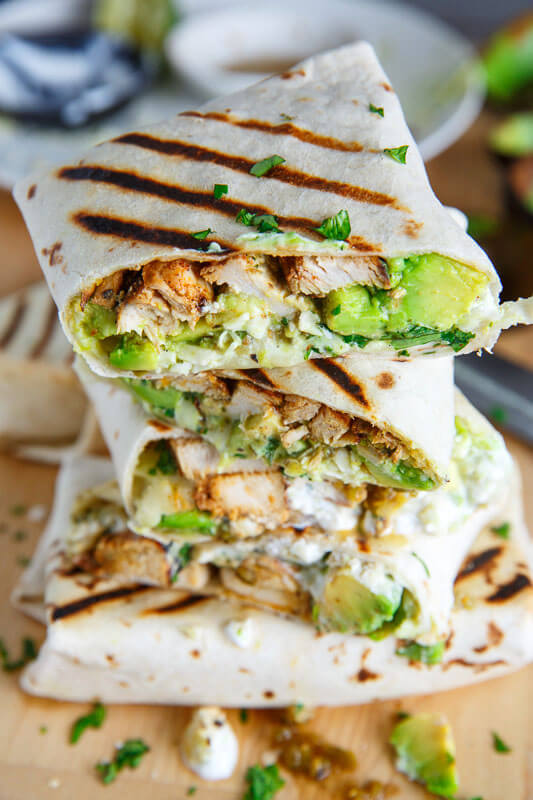 2. Chicken and Avocado Burritos