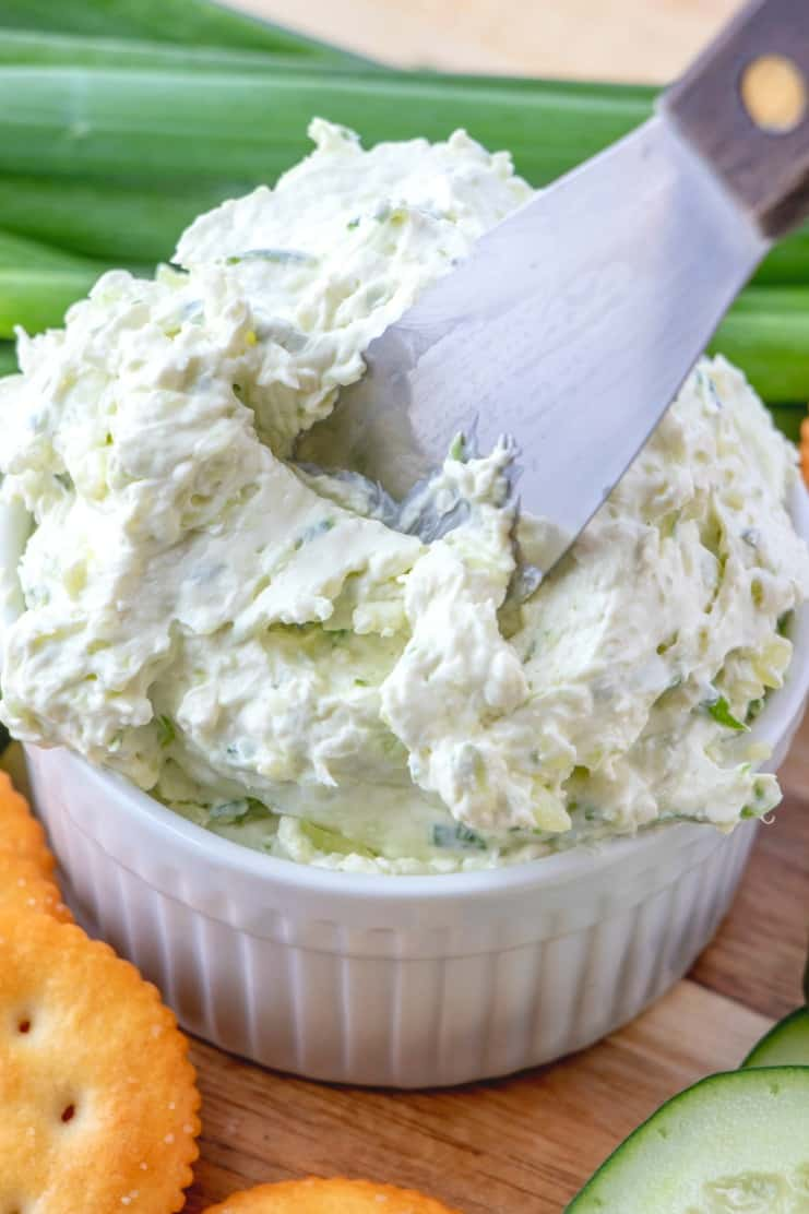2. Cucumber Cream Cheese Spreadv