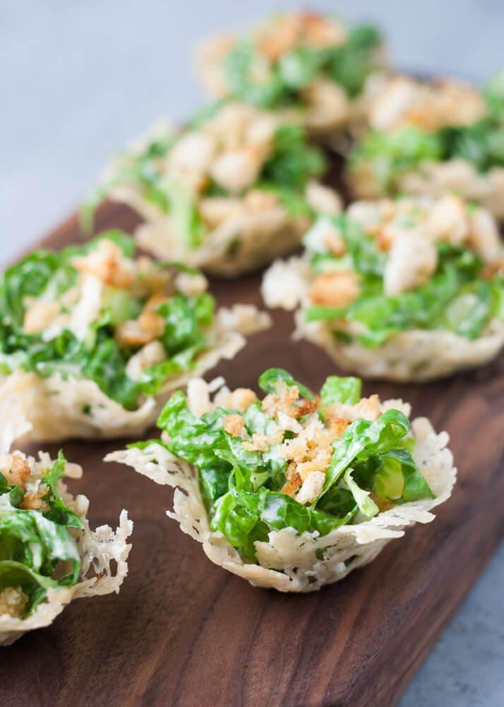 2. Mini Chopped Ceasar Salad Cups