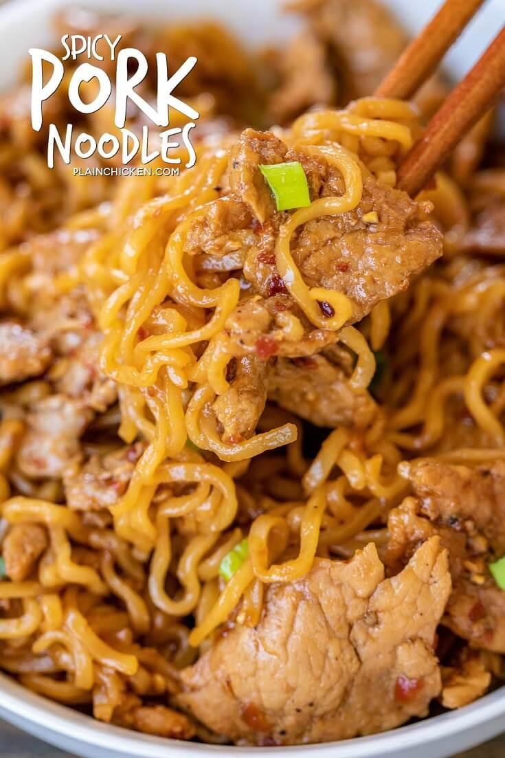 #20 5-Ingredient Spicy Pork Noodles rv