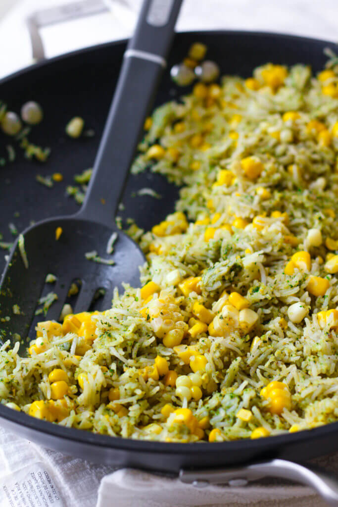 #20 Basil Pesto Roasted Corn Rice