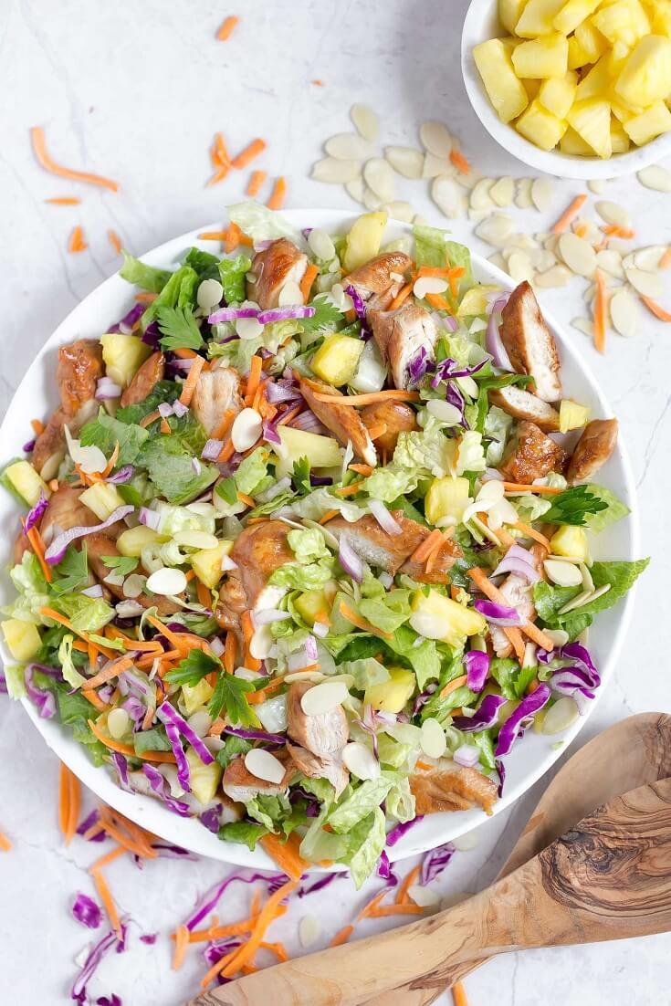 #20 Hawaiian Salad with Pineapple Chicken