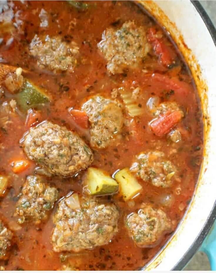 #20 Paleo and Keto Meatball Soup