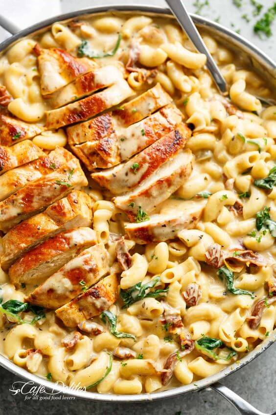 #20 Tuscan Chicken Mac and Cheese