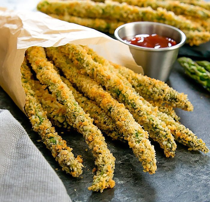 20. Crispy Baked Parmesan Asparagus Fries-min
