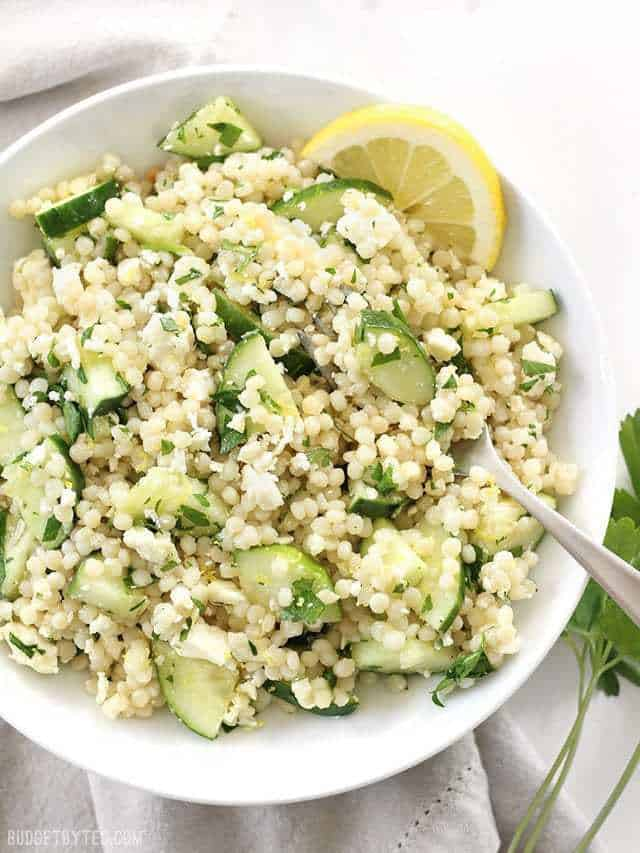 20. Lemony Cucumber Couscous Salad
