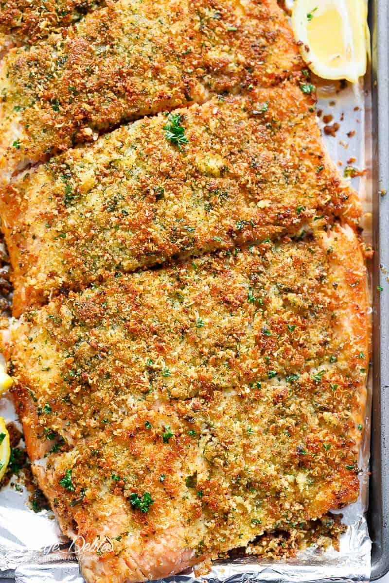 #21 5-Ingredient Crispy Garlic Parmesan Salmon
