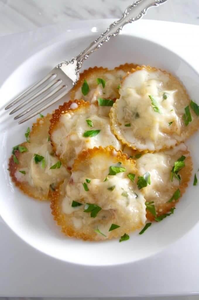#21 Lobster Ravioli in a Lemon Butter Cream Sauce