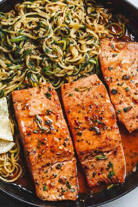 21. zucchini with salmon