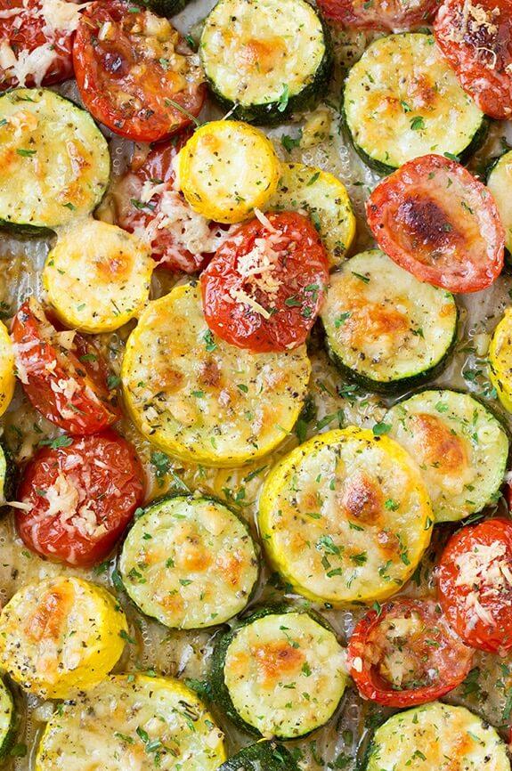 #22 Roasted Garlic-Parmesan Zucchini, Squash and Tomatoes