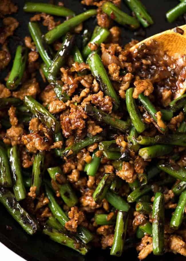 #22 Stir Fried Green Beans with Minced Pork