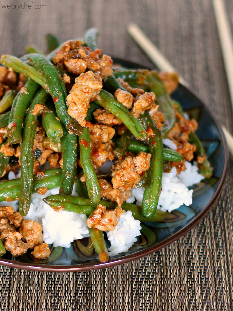 #23 Chinese Green Beans with Ground Turkey