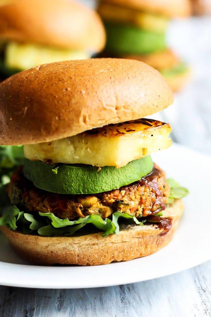 #23 Hawaiian Chickpea Veggie Burgers