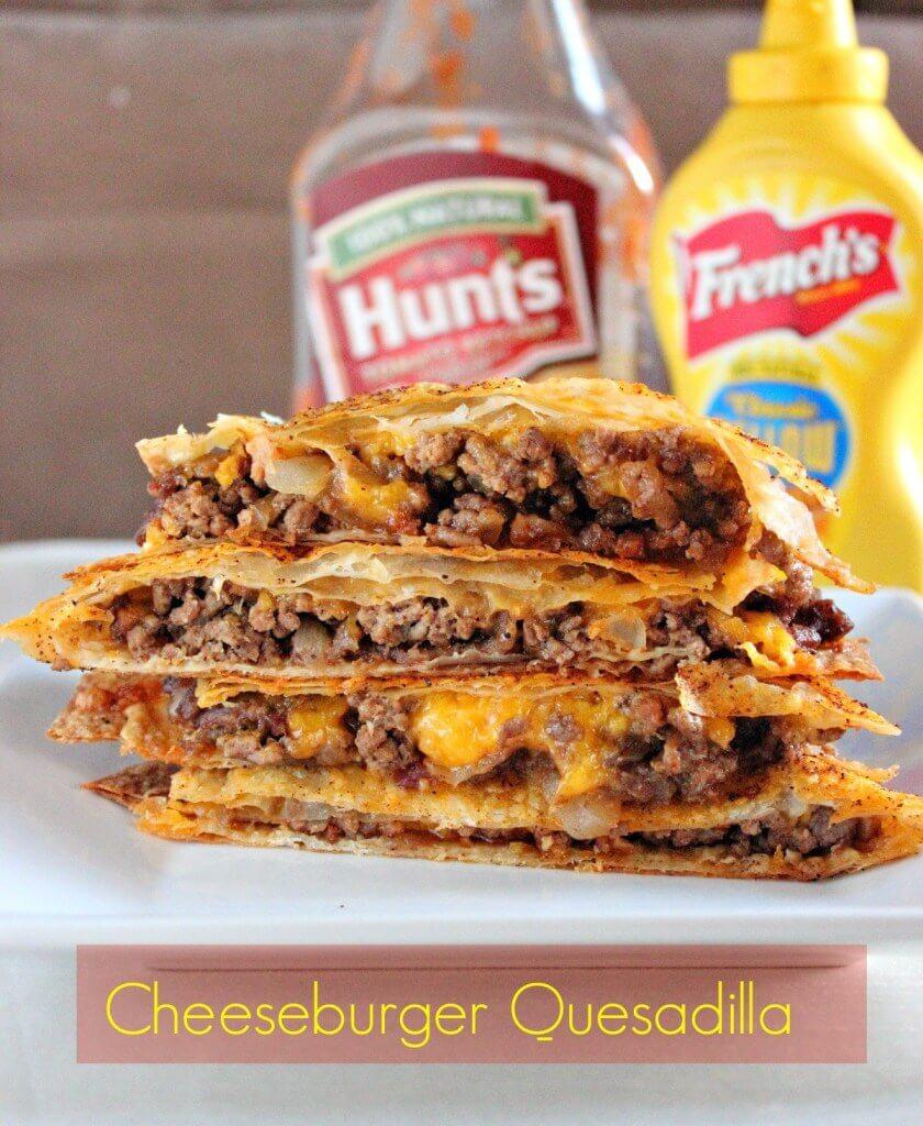 23. Cheeseburger Quesadillas with Cheddar
