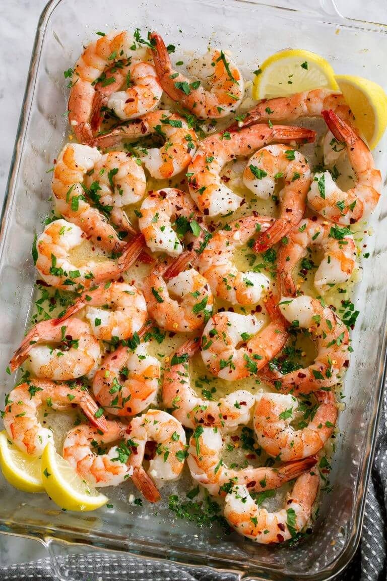 #24 Baked Shrimp with Simple Garlic Sauce