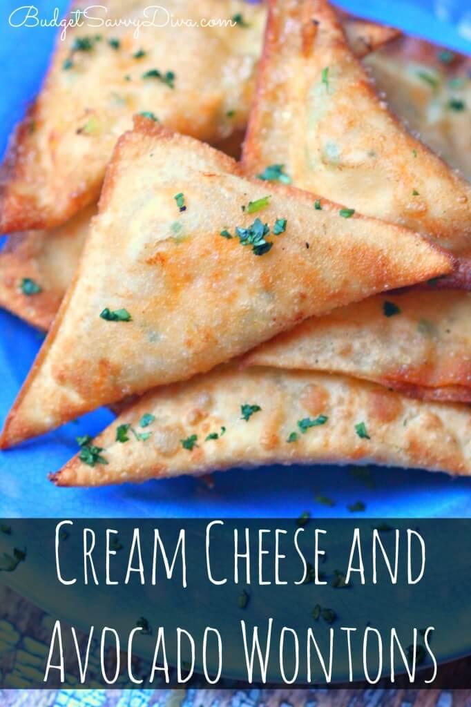 #24 Cream Cheese and Avocado Wontons